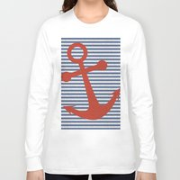 sailor Long Sleeve T-shirts featuring sailor by zakumy