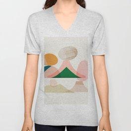 Abstraction_Balances_003 Unisex V-Neck
