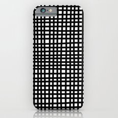 Black and White Gingham iPhone 6s Slim Case