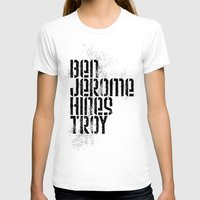 caleb troy T-shirts featuring Ben Jerome Hines Troy / Gold by Brian Walker