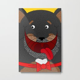 Dog Love,  kids wall art, Cute, fun prints of animals in love, Mix and Match Them!! Metal Print