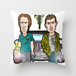 Sam, Dean and Cass...  The Winchesters and their Angel buddy from Supernatural! Throw Pillow