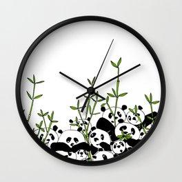 A Pandemonium of Pandas  Wall Clock