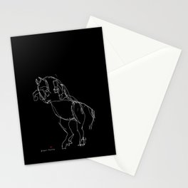 Horse (Prancing in Black) Stationery Cards