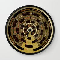 record Wall Clocks featuring Record by Tammy Kushnir