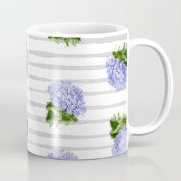 Hydrangeas flower with stripes Coffee Mug