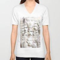 sleep V-neck T-shirts featuring Sleep by GLR67