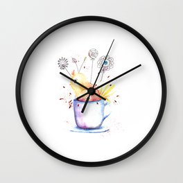 Cute Little Chick Illustration Wall Clock