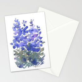 Beautiful Blue Delphiniums Stationery Cards