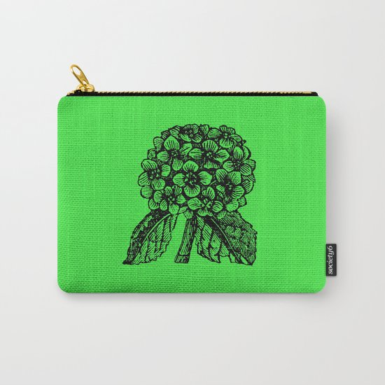 Green Hydrangea Carry-All Pouch