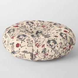 Suzy Sailor Pattern Floor Pillow