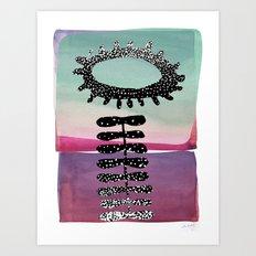 Smiling on the Inside Art Print