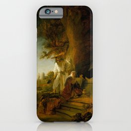 Rembrandt - The Risen Christ Appearing to Mary Magdalene iPhone Case
