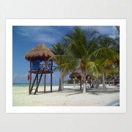 Tropical Serenity in Cancun Art Print