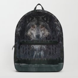 The Winter is here - Wolf Dreamcatcher Backpack