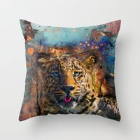 wicked Throw Pillows featuring Wicked by Robin Curtiss