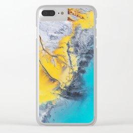 Corrosive Coastline Clear iPhone Case