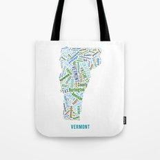 Word Cloud - Vermont Tote Bag