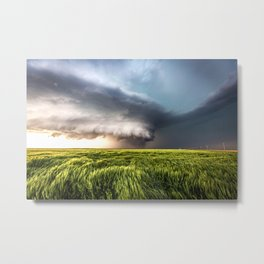 Leoti's Masterpiece - Incredible Storm in Western Kansas Metal Print