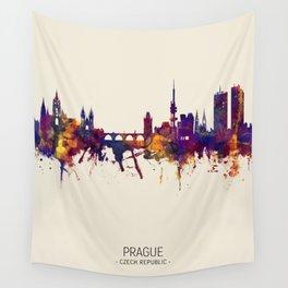 Prague (Praha) Czech Republic Skyline Wall Tapestry