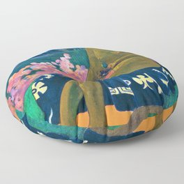 Paul Gauguin - The Seed Of The Areoi - Digital Remastered Edition Floor Pillow