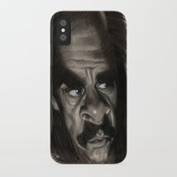 nick cave iPhone & iPod Cases featuring Nick Cave by Patrick Dea