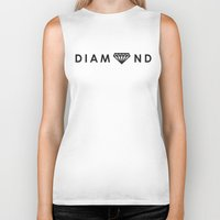 diamond Biker Tanks featuring Diamond by Dale J Cheetham