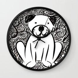 Pug Leo Wall Clock