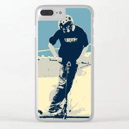 On the Rim - Scooter Boy Clear iPhone Case