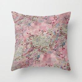 doodle: persian poem Throw Pillow
