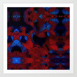 spider man pattern 2 Art Print