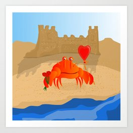 Crabby Suitor Art Print
