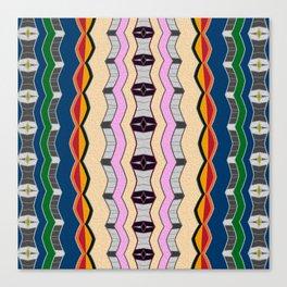 Retro Vintage Neo Tribal No. 3 Canvas Print