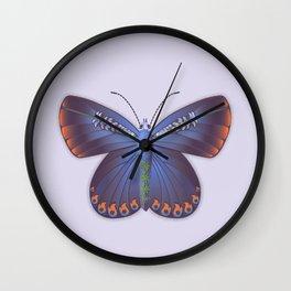 Karner Blue Butterfly - Lavender Palette Wall Clock