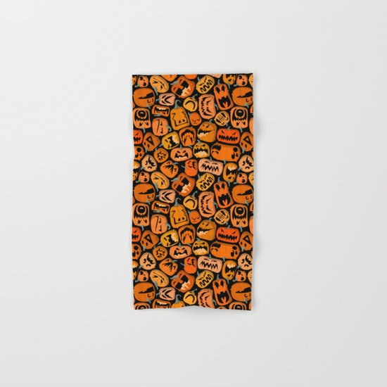 Pumpkin Brawl. Hand & Bath Towel