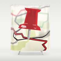 paper towns Shower Curtains featuring Paper Towns by Dreki