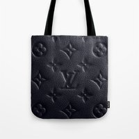 lv Tote Bags featuring Black LV by I Love Decor