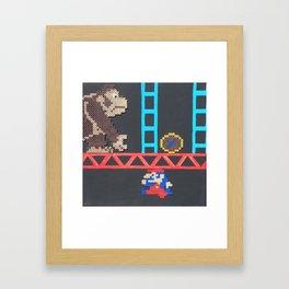 Donkey Kong & Jumpman Framed Art Print