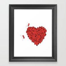 Valentine's Heart Framed Art Print