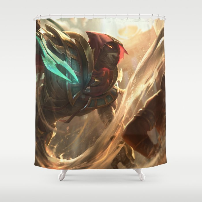 Sand Wraith Pyke League Of Legends Shower Curtain By Amumus