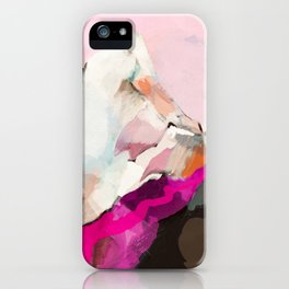 landscape mountain painting abstract iPhone Case