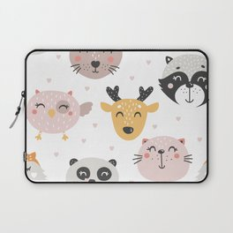 Woodland Critters Pattern Laptop Sleeve