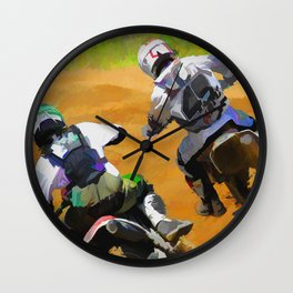 Motocross Dirt Racers Wall Clock