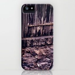 Wood and Stone iPhone Case