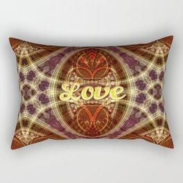Tribal Geometry Love (earthy) Rectangular Pillow