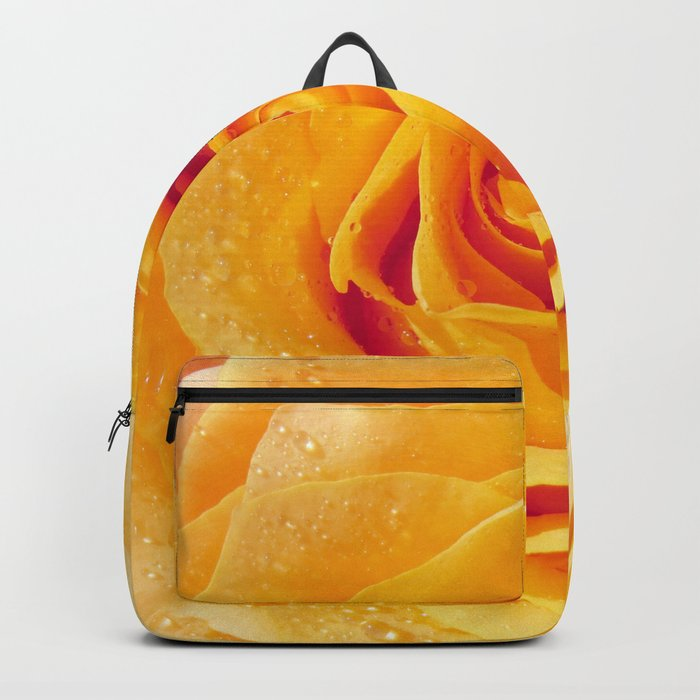 Gold Rose Bud- Yellow Roses and flowers Backpack
