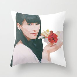 Pretty with Flowers Throw Pillow