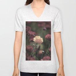 Vintage Flora Unisex V-Neck