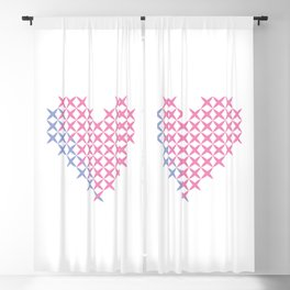 Pink and blue heart Blackout Curtain