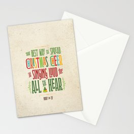 Buddy the Elf! The Best Way to Spread Christmas Cheer is Singing Loud for All to Hear Stationery Cards
